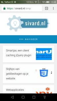 Een voorbeeld van een WordPress AMP pagina