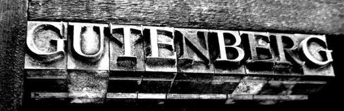 gutenberg in oude letters